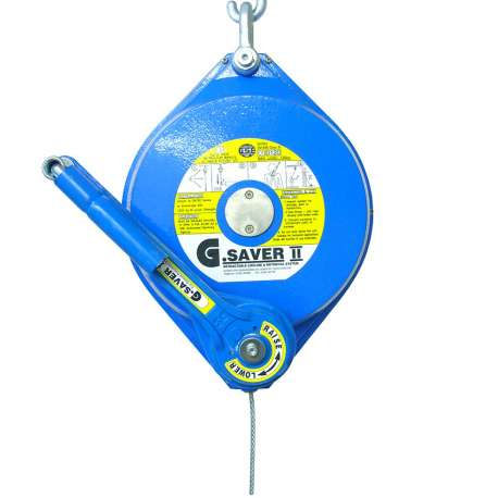 G.Saver II 20 meter fall arrester that features a recovery winch