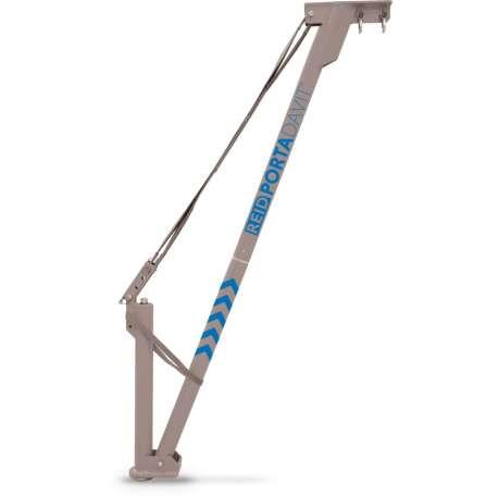 PORTA-DAVIT QUANTUM WLL600kg Rad 900-1200mm, rigid backstay, winch ready
