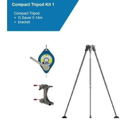 Globstock Tripod Kit | 14m (GSE210 G.Tripod + GSE414G G.Saver II + SA210UMB, SA210LMB brackets)